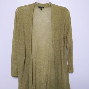 Eileen Fisher Long Cardigan Large 100% Wool Duster